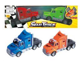 "24 Units of Friction Semi Truck (2 Pcs Set) 9"" - Cars, Planes, Trains & Bikes"