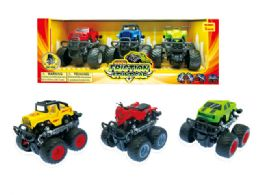 24 Units of Friction Monster Truck W/360 Turn Function (3 Pcs Set) - Cars, Planes, Trains & Bikes