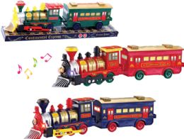 "36 Units of FRICTION TRAIN W/LIGHT & SOUND (BATT. INCL.) 16"" - Cars, Planes, Trains & Bikes"
