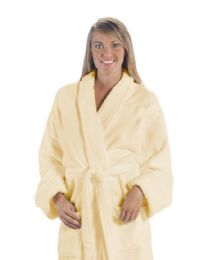 3 Units of Tahoe Fleece Shawl Collar Robe In Beige - Bath Robes