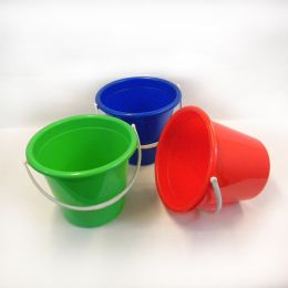 48 Units of Plastic Pail With Handle - Beach Toys