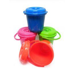 48 Units of Deluxe Stripe Bucket - Buckets & Basins