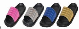 36 Units of Women's Slide Sandals Open Toe House And Bath Slippers - Women's Sandals