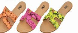 24 Units of Womens Slim Animal Pastel Sandal - Women's Flip Flops