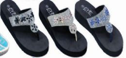 36 Units of Womens Casual Summer Wedge Sandal - Women's Flip Flops
