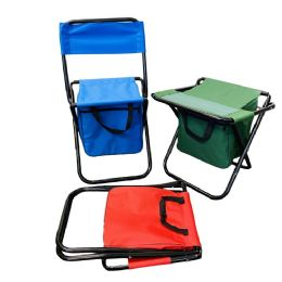 10 Units of Folding Camping Stool/Chair with Storage Bag - Camping Gear