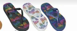 48 Units of Womens Summer Butterfly Flip Flop - Women's Sandals