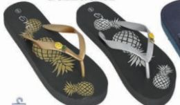 36 Units of Womens Graphic Print Flip Flop Thong Sandal Beach Pool Or Everyday - Women's Sandals