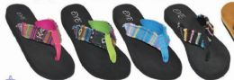 48 Units of Womens Comfortable Cloth Strap Flip Flops - Women's Sandals
