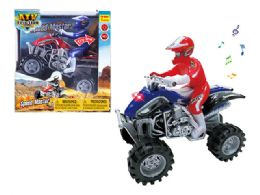 "24 Units of FRICTION MOTORCYCLE ATV W/LIGHT & SOUND (BATT.INCL.) 7.5"" - Cars, Planes, Trains & Bikes"