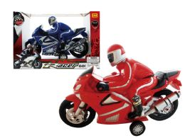"""12 Units of FRICTION MOTORCYCLE W/RIDER (JUMBO SIZE) 15"""" - Cars, Planes, Trains & Bikes"""