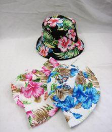 36 Units of Women's Floral Bucket Hat - Bucket Hats