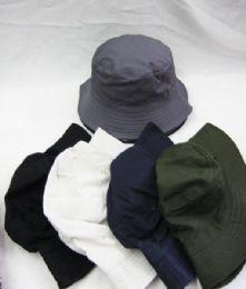 36 Units of Men's Solid Color Bucket Hat - Bucket Hats