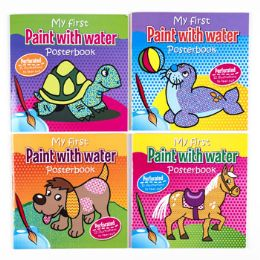 48 Units of Paint with water Posterbook - Coloring & Activity Books