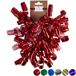 24 Units of Curly Twilled Foil Bow - Christmas Decorations