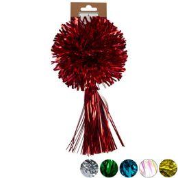 24 Units of Christmas Pom w/ tassel Bow - Christmas Decorations