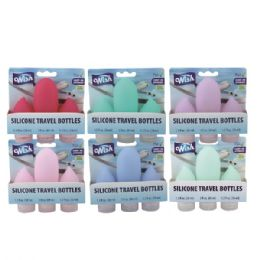 48 Units of Wish Silicone Travel Bottle 3pk - Personal Care