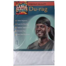 240 Units of Sable Beauty Du-Rag White - Hair Accessories