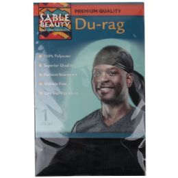 240 Units of Sable Beauty Du-Rag Black - Hair Accessories