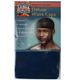 240 Units of Sable Beauty Deluxe Wave Cap 2PK Navy - Hair Accessories