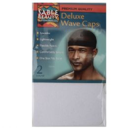 240 Units of Sable Beauty Deluxe Wave Cap 2PK White - Hair Accessories