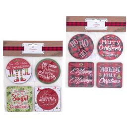 48 Units of Holiday Coaster Paper - Christmas Decorations