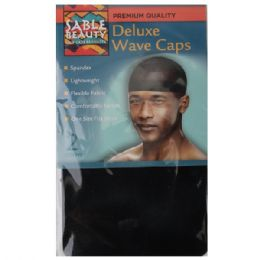 240 Units of Sable Beauty Deluxe Wave Cap 2PK Black - Hair Accessories