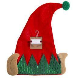 24 Units of Sequin cuff Elf Hat w/ Ears - Christmas Novelties