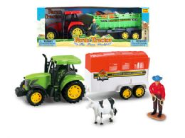 "36 Units of FRICTION FARM PLAY SET (2 ASSTD. ) 14"" - Cars, Planes, Trains & Bikes"