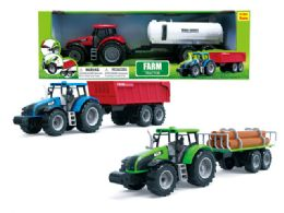 """18 Units of FRICTION FARM TRACTOR (3 ASSTD.) 18"""" - Cars, Planes, Trains & Bikes"""