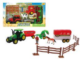 18 Units of FRICTION FARM COMPLETE PLAY SET (2 ASSTD.) - Cars, Planes, Trains & Bikes