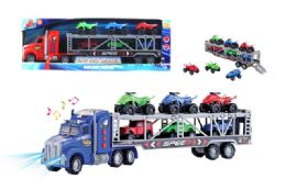 "16 Units of FRICTION TRUCK CARRIER W/LIGHT & SOUND (BATT. INCL.) 21"" - Cars, Planes, Trains & Bikes"
