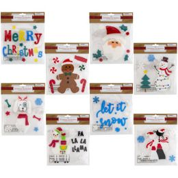 48 Units of Christmas Gel Sticker - Christmas Decorations