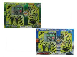 24 Units of SOLDIER & POLICE PLAY SET (2 ASSTD.) - Toy Sets