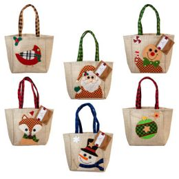 48 Units of Christmas Character Gift Bag Treat Sack - Christmas Gift Bags and Boxes