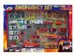12 Units of DIECAST EMERGENCY SET W/STAGE MAP - Toy Sets