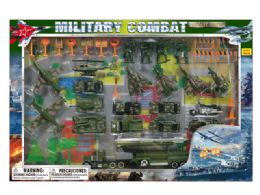 12 Units of DIECAST MILITARY SET W/STAGE MAP - Toy Sets
