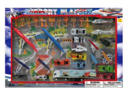 12 Units of DIECAST AIRPORT SET W/STAGE MAP - Toy Sets