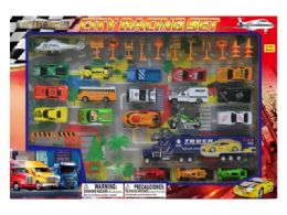 12 Units of DIECAST CITY RACING SET W/STAGE MAP - Toy Sets