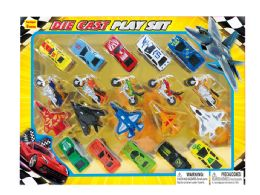 24 Units of DIECAST AIRPLANE, MOTORCYCLE & CAR COLLECTION - Toy Sets