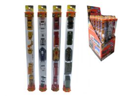 72 Units of DIECAST CAR TUBE COLLECTION (4 ASSTD.) - Toy Sets