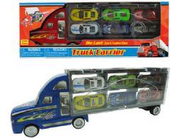 """24 Units of DIECAST TRUCK CARRIER SET 14"""" - Toy Sets"""