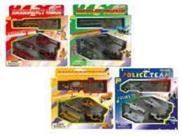 96 Units of DIECAST PLAY SET (4 ASSTD.) (7 PCS SET) - Toy Sets