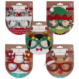24 Units of Christmas Novelty Glasses - Christmas Novelties
