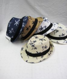 36 Units of Kid's Palm Tree Fedora Hat - Fedoras, Driver Caps & Visor