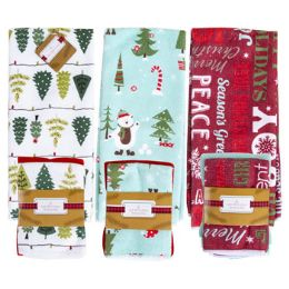 48 Units of Christmas Kitchen Textiles - Christmas Decorations