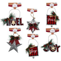 36 Units of Galvanized Ornaments - Christmas Decorations