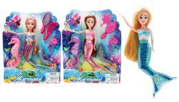 24 Units of BEAUTY MERMAID DOLL PLAY SET - Dolls