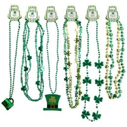 36 Units of ST Patrick Necklace Bead - St. Patricks