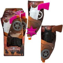 24 Units of Cowboy/cowgirl Toy Gun Holster W/ Plastic Badge - Toy Weapons